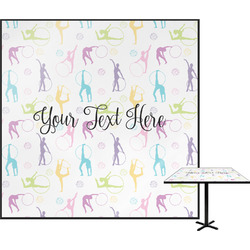 Gymnastics with Name/Text Square Table Top (Personalized)