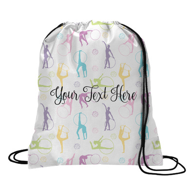 Gymnastics with Name/Text Drawstring Backpack (Personalized)