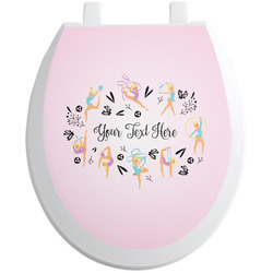 Gymnastics with Name/Text Toilet Seat Decal (Personalized)