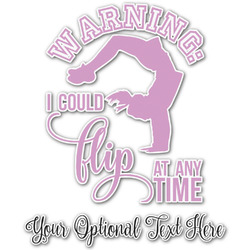 Gymnastics with Name/Text Graphic Decal - Custom Sizes (Personalized)
