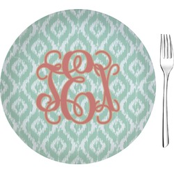 "Monogram Glass Appetizer / Dessert Plates 8"" - Single or Set (Personalized)"