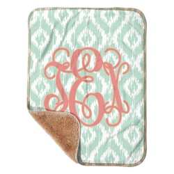 "Monogram Sherpa Baby Blanket 30"" x 40"" (Personalized)"