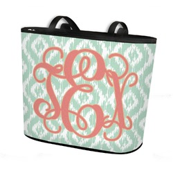 Monogram Bucket Tote w/ Genuine Leather Trim (Personalized)