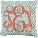 Monogram Faux-Linen Throw Pillow (Personalized)