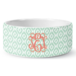 Monogram Ceramic Dog Bowl (Personalized)