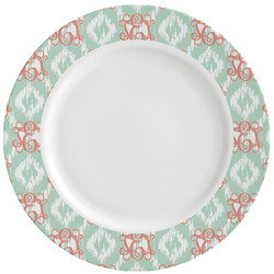 Monogram Ceramic Dinner Plates (Set of 4) (Personalized)