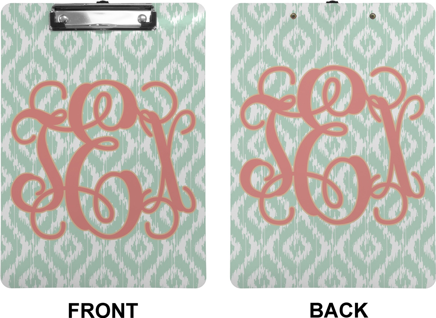 Monogram Clipboard Letter Size Personalized