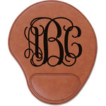 Monogram Leatherette Mouse Pad with Wrist Support (Personalized)