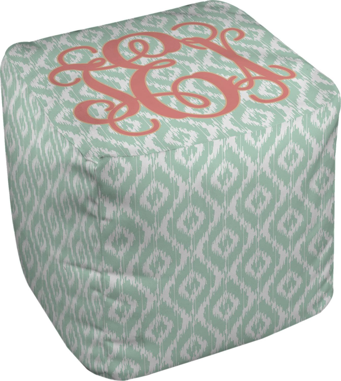 monogram cube pouf ottoman 13 personalized you. Black Bedroom Furniture Sets. Home Design Ideas