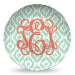 Monogram Microwave Safe Plastic Plate - Composite Polymer (Personalized)