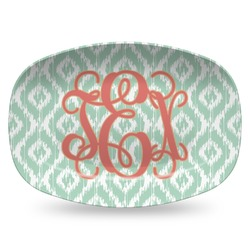 Monogram Plastic Platter - Microwave & Oven Safe Composite Polymer (Personalized)