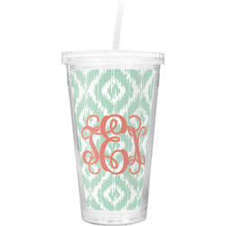 Monogram Double Wall Tumbler with Straw (Personalized)