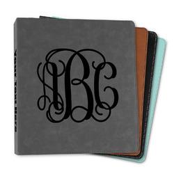 "Monogram Leather Binder - 1"""
