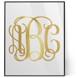 Monogram 8x10 Foil Wall Art - White (Personalized)