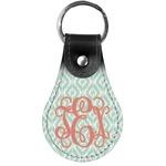 Monogram Genuine Leather  Keychain (Personalized)