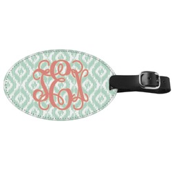 Monogram Genuine Leather Oval Luggage Tag (Personalized)