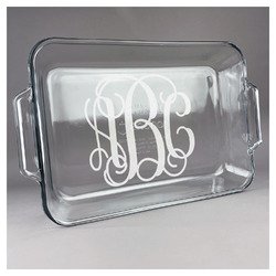 Monogram Glass Baking and Cake Dish
