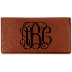 Monogram Leatherette Checkbook Holder (Personalized)