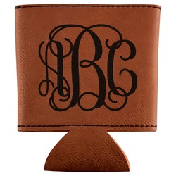Monogram Leatherette Can Sleeve (Personalized)