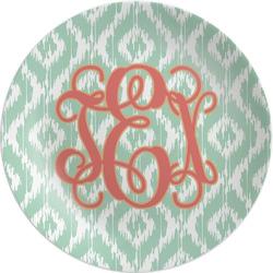 "Monogram Melamine Plate - 8"" (Personalized)"