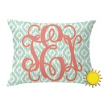 Monogram Outdoor Throw Pillow (Rectangular) (Personalized)