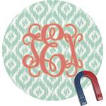 Monogram Round Fridge Magnet