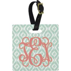 Monogram Plastic Luggage Tag - Square