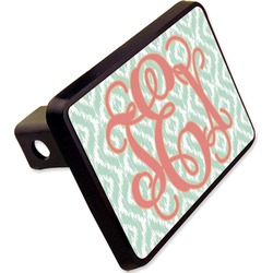 "Monogram Rectangular Trailer Hitch Cover - 2"" (Personalized)"