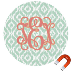 Monogram Round Car Magnet (Personalized)