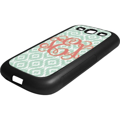 Monogram Rubber Samsung Galaxy 3 Phone Case (Personalized)