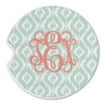 Monogram Sandstone Car Coasters (Personalized)