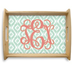 Monogram Natural Wooden Tray - Large (Personalized)