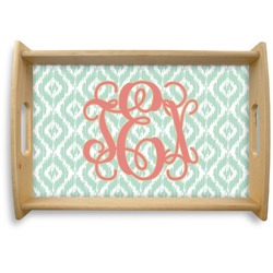 Monogram Natural Wooden Tray (Personalized)