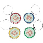 Monogram Wine Charms (Set of 4) (Personalized)