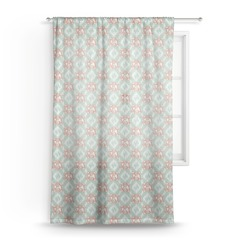 "Monogram Sheer Curtain - 50""x84"" (Personalized)"