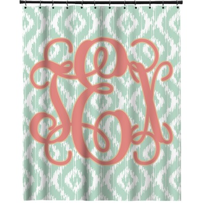 Monogram Extra Long Shower Curtain 70 X90 Personalized Youcustomizeit