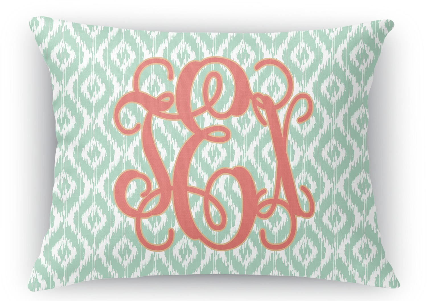 Monogram Rectangular Throw Pillow Case