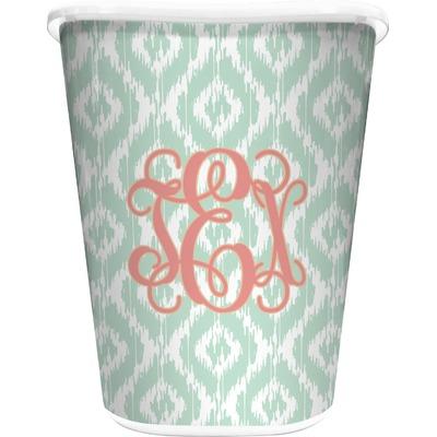Monogram Waste Basket - Single Sided (White) (Personalized)