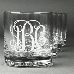 Monogram Whiskey Glasses (Set of 4) (Personalized)