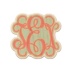 Monogram Genuine Wood Sticker (Personalized)