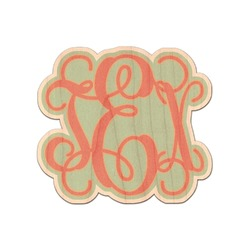 Monogram Genuine Wood Sticker (Personalized)