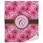 Gerbera Daisy Sherpa Throw Blanket (Personalized)