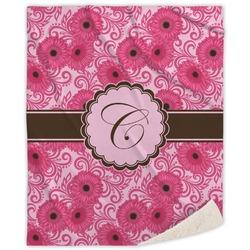 Gerbera Daisy Sherpa Throw Blanket (Personalized)