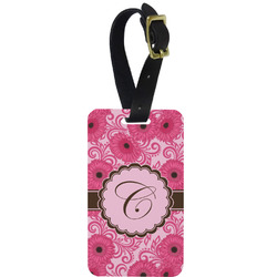 Gerbera Daisy Aluminum Luggage Tag (Personalized)