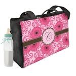 Gerbera Daisy Diaper Bag w/ Initial