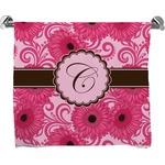Gerbera Daisy Full Print Bath Towel (Personalized)