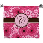 Gerbera Daisy Full Print Bath Towel (Personalized)
