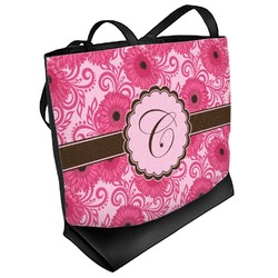 Gerbera Daisy Beach Tote Bag (Personalized)