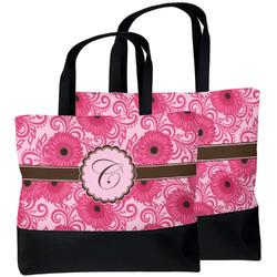 Gerbera Daisy Beach Tote Bag (Personalized)