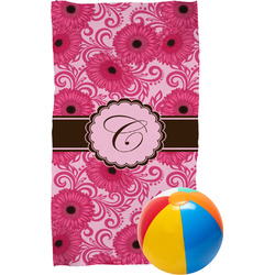 Gerbera Daisy Beach Towel (Personalized)